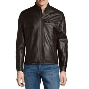 NWT Cole Haan Moto Leather Jacket (L).